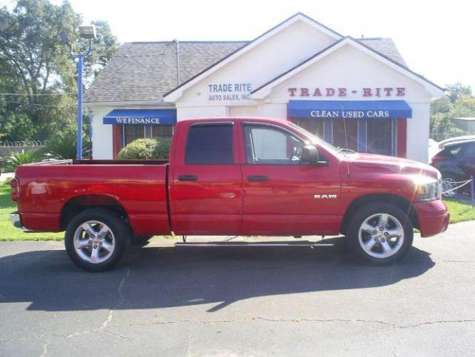 2008 RED Dodge Ram 1500 Laramie Quad Cab 2WD (1D7HA18N08S) with an 4.7L V8 SOHC 16V engine, located at 116 N. Frazier Street, Conroe, TX, 77301, (936) 647-0690, 30.308662, -95.460480 - Photo #0